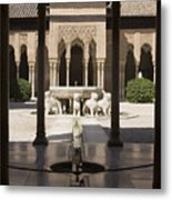 Nasrid Palaces Alhambra Granada Spain Europe Metal Print