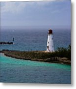 Nassau Harbor Lighthouse Metal Print