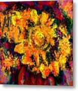 Natalie Holland Sunflowers Metal Print