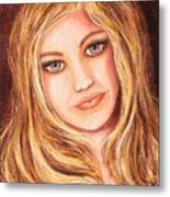 Natalie Self Portrait Metal Print