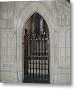 National Cathedral Grated Door Metal Print