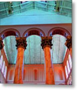 National Column Orange Metal Print