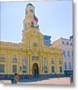 National History Museum On Plaza De Armas In Santiago-chile Metal Print
