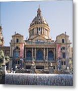 National Palace Barcelona Metal Print