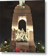 National War Memorial At Night Metal Print