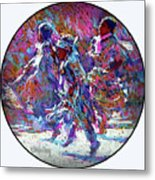 Native American - 3 Young Children Pow Wow Dancing Metal Print
