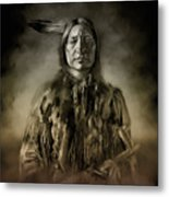 Native American Chief-scabby Bull 2 Metal Print