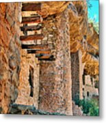 Native American Cliff Dwellings Metal Print