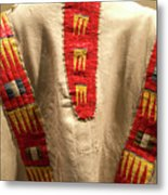 Native American Great Plains Indian Clothing Artwork 09 Metal Print
