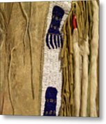 Native American Great Plains Indian Clothing Artwork Vertical 06 Metal Print