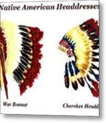 Native American Headdresses Metal Print