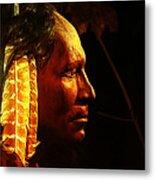 Potawatomi Chief Metal Print