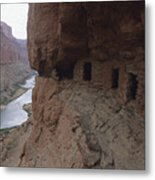 Native American Ruins Of Nankoweap Metal Print