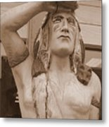 Native American Statue In Toppenish Metal Print