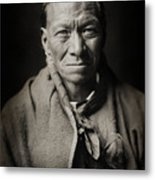 Native American Taos Indian White Clay Metal Print by Jennifer Rondinelli Reilly - Fine Art Photography