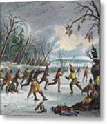 Native Americans: Ball Play, 1855 Metal Print
