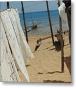 Native Beach Scene Metal Print