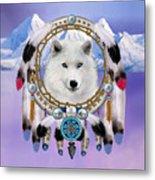Native Indian Wolf Spirit Metal Print
