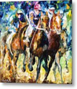 Native Raiser - Palette Knife Oil Painting On Canvas By Leonid Afremov Metal Print