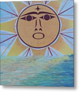 Native Sun Metal Print