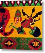 Native Tapestry Metal Print
