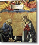 Nativity By Domenico Ghirlandaio Metal Print