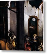 Nativity By Hans Baldung Grien Metal Print