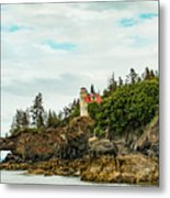 Natural Arch At Lighthouse Point Metal Print
