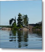 Natural Breakwater Metal Print
