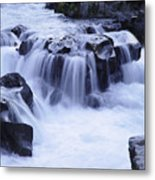 Natural Bridges Falls 01 Metal Print