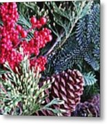 Natural Christmas 3 Metal Print