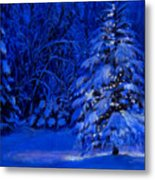 Natural Christmas Tree Metal Print by Susan Jenkins