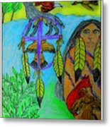 Natural Dream Catcher Metal Print