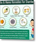 Natural Home Remedies For Diarrhea In Kids And Adults Metal Print