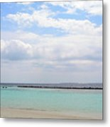 Natural Landscape With The Ocean From An Island In Maldives Metal Print