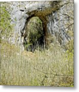 Natural Limestone Arch At Dove Valley Metal Print