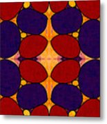 Naturally Dimensional Abstract Bliss Art By Omashte Metal Print