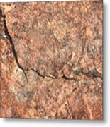Nature Abstract - Cracked Metal Print