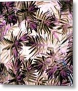 Nature Abstract In Pink And Brown Metal Print