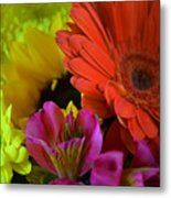 Nature Colorful Bouquet Metal Print