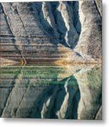 Nature Colorful Water Abstract Metal Print