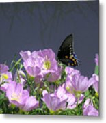 Nature In The Wild - Profiles By A Stream Metal Print