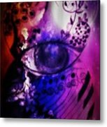 Nature N Music Abstract Metal Print