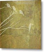 Nature Study In Gold  Metal Print