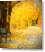 Nature's Golden Corridor Metal Print