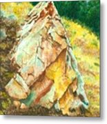 Nature's Granite Sculpture Metal Print