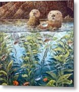 Natures Union At Monterey Robert Lyn Nelson Metal Print