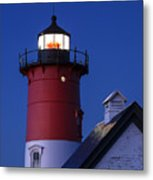 Nauset Lighthouse Night Metal Print