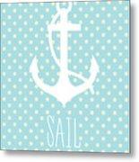 Nautical Anchor Metal Print