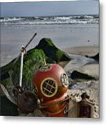 Nautical Collection Found On The Beach Metal Print